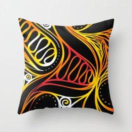 hot waves Throw Pillow