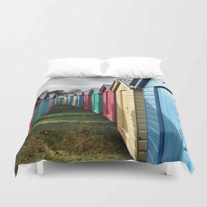 Beach Huts 01A Duvet Cover