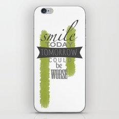 Smile iPhone & iPod Skin