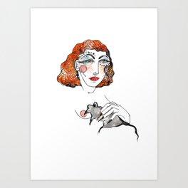 Rat Mother Art Print