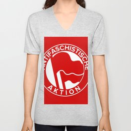 Anti-Fascist Flag Unisex V-Neck
