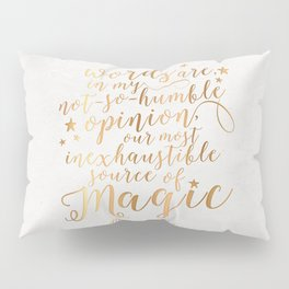 Dumbledore's Magic Words Pillow Sham