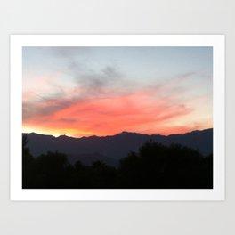 Palm Desert sky Art Print