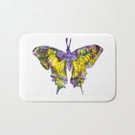 Purple Butterfy Bath Mat