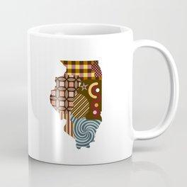 Illinois State Map Coffee Mug