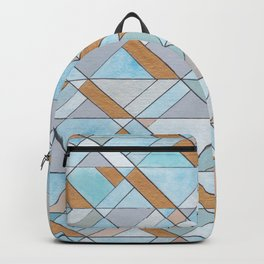 Shifting Pattern Turquoise and Gold Backpack