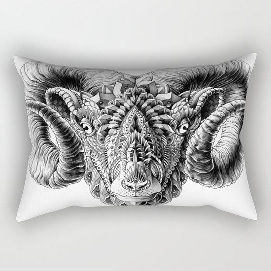 Ram Head Rectangular Pillow