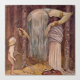 """The Troll Herb"" John Bauer Watercolor Canvas Print"