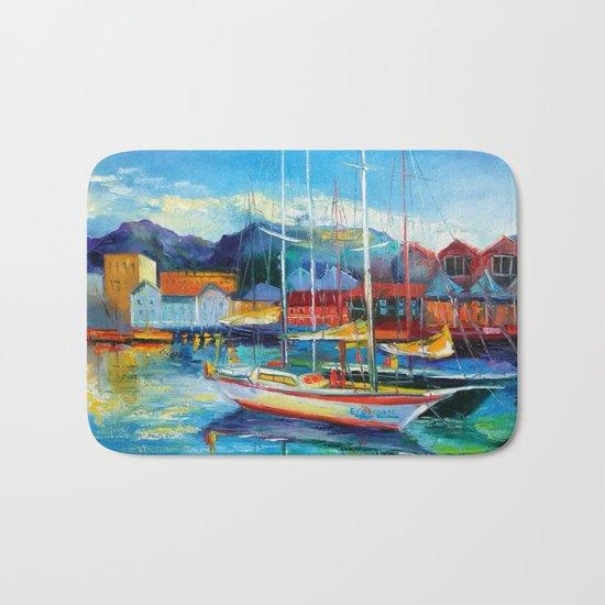 Boats Spain Bath Mat