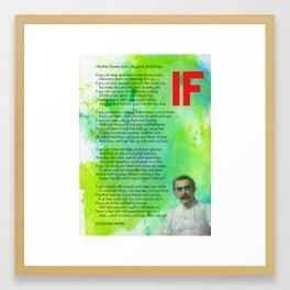 If BY RUDYARD KIPLING v1 Framed Art Print