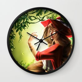 Spring Witch Wall Clock