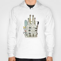 barcelona Hoodies featuring Barcelona by Jaume Tenes