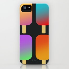 icecreams_black iPhone Case