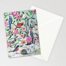 Bird Vines Stationery Cards