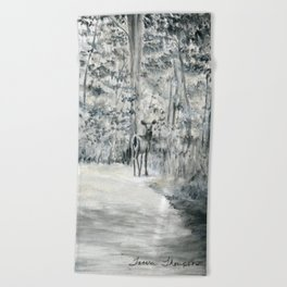 Follow Me by Teresa Thompson Beach Towel