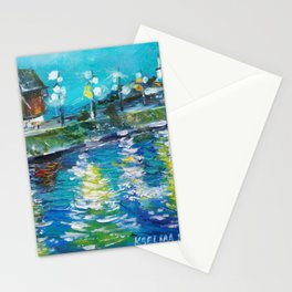 Impressionism style Old Mill Stationery Cards