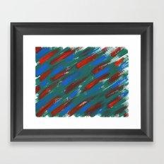 brush strokes Framed Art Print