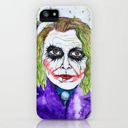 The Joker Watercolor iPhone Case