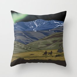 Vintage Poster - Steese National Conservation Area, Alaska (2015) Throw Pillow