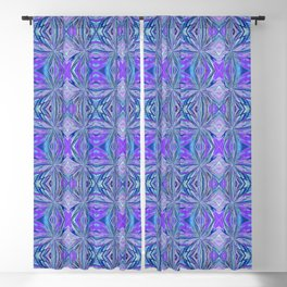 Purple and Turquoise Abstract Pattern 666 Blackout Curtain