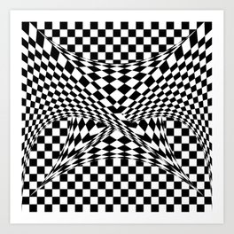 Twisted Checkers Art Print