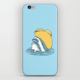 Funny Hat Shark iPhone Skin