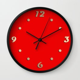 #Bright red #scarlet Wall Clock