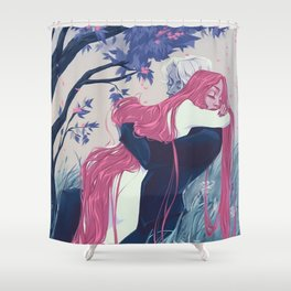 Hades and Persephone Shower Curtain