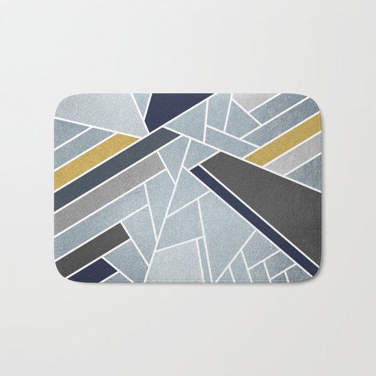 Soft Silver/Blue/Navy/Gold Bath Mat