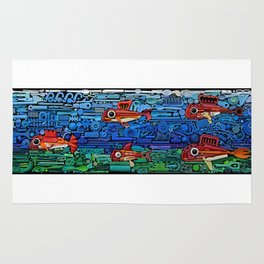 Fishes (white) Rug