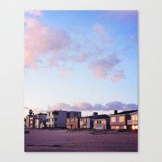 Midcentury Style Homes along the Beach, Sunset Beach, California Canvas Print