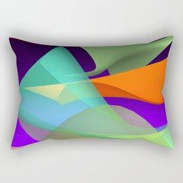waves on black -3- Rectangular Pillow