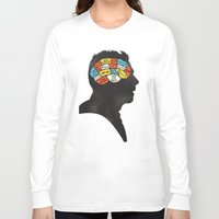 shaun of the dead Long Sleeve T-shirts featuring Shaun Phrenology by Wharton