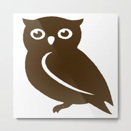 Little Brown Owl Metal Print