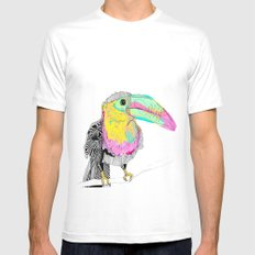 Toucan MEDIUM White Mens Fitted Tee