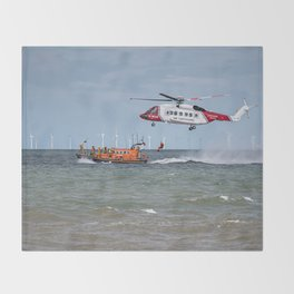 Rhyl Air Sea Rescue Throw Blanket