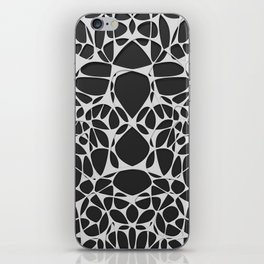 White on black, organic abstraction iPhone Skin