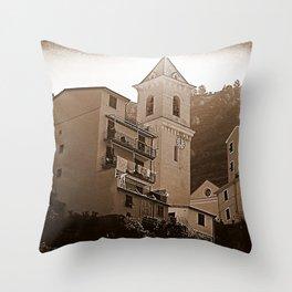 High Noon Riomaggiori Sepia Throw Pillow