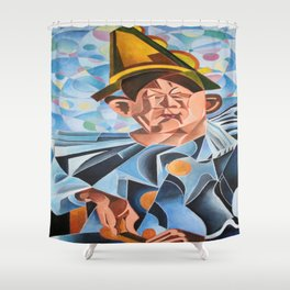 Not Clowning But Frowning Shower Curtain