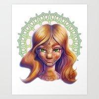 henna Art Prints featuring Henna by TinaNewtonArt