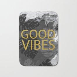 Good Vibes gold & black Bath Mat