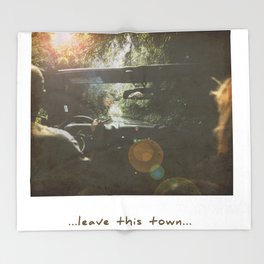 Leave this town Throw Blanket
