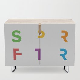 SPRFTR Rainbow Graphic Credenza