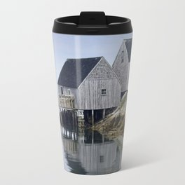 Early Morning at Peggy's Cove Harbor Travel Mug