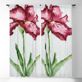 Red Iris Blackout Curtain