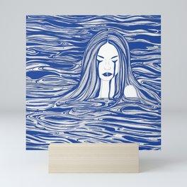 Blue Sea Nymph Mini Art Print