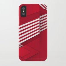Optical illusion_red Slim Case iPhone X