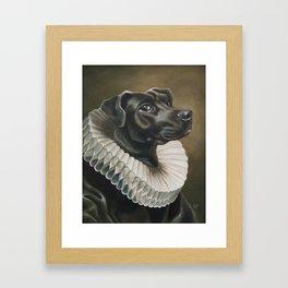 Portrait of a Young Doggo Framed Art Print