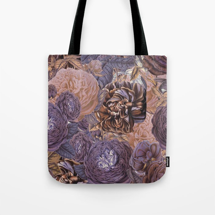 Vintage   Shabby-chic - floral purple roses flowers rose flower Tote Bag by  vintage love