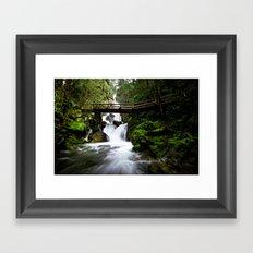 Mountain Falls Framed Art Print